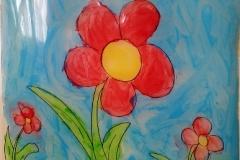 Kwiatek na folii